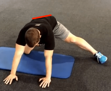 Split Stance Adductor with line