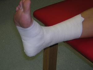 full ankle tape job