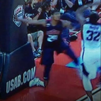 Paul George broken leg