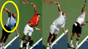 tennis serve various frames