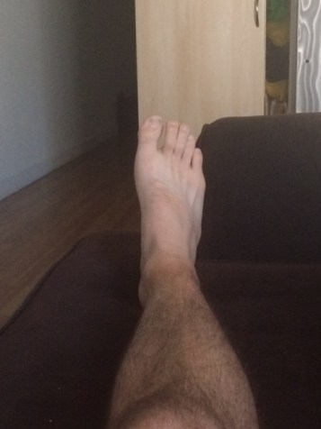 Laying down ankle straight