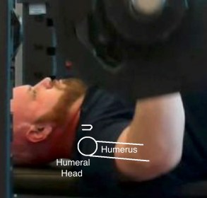 Bench Press side view zoomed in humerus coracoid friendly