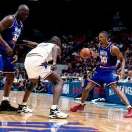 Scottie Pippen ballon en main lors du All-Star Game 1994 (c) solecollector.com