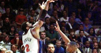 Playoffs 1999 : Larry Johnson, son action à 4-points – match 3 Knicks-Pacers (finale Est)