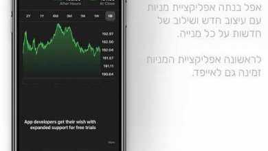 Photo of איך תיראה אפליקציית המניות במערכת הפעלה iOS12