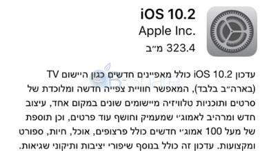 Photo of iOS 10.2 שוחררה: אייקוני אמוג׳י חדשים, אפקטים בהודעות, תיקוני שגיאות מרובים