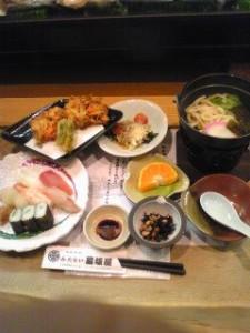 頂いた昼食。とっても美味しかったです!
