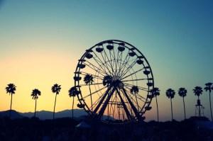 Coachella Ferriswheel Sunset