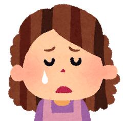 悲しくて涙がこぼれている女性