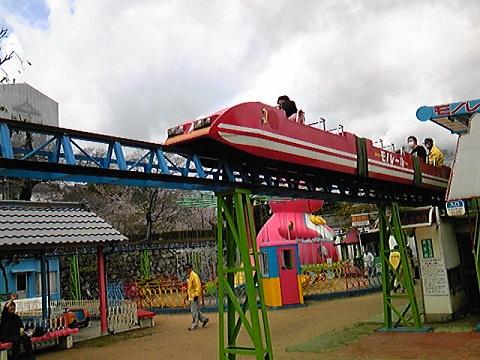 姫路市立動物園のモノレール
