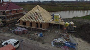bouw dak (voorzijde woning)