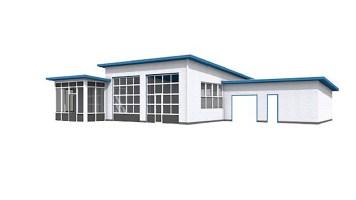 voorzijde garage (bestaande situatie)