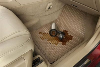 Image result for coffee on rubber mats car