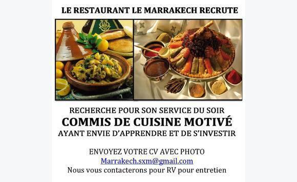 Cherche Commis De Cuisine Annonce Offre Emploi Marigot