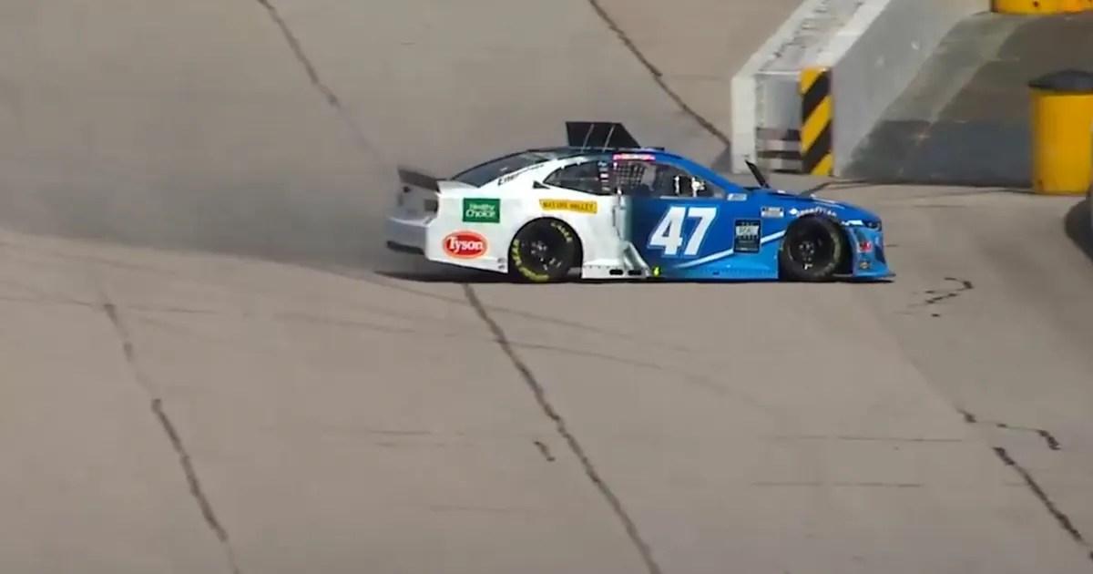 Ricky Stenhouse Jr. wrecks on Lap 1 as NASCAR returns (VIDEO) thumbnail