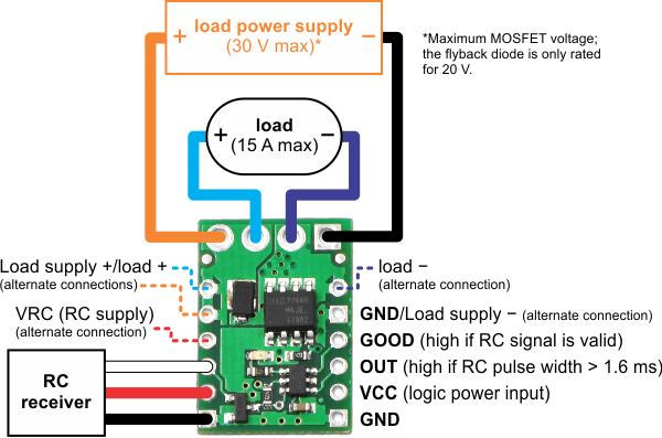 Pololu RC Switch (Medium LowSide MOSFET) in Canada Robotix
