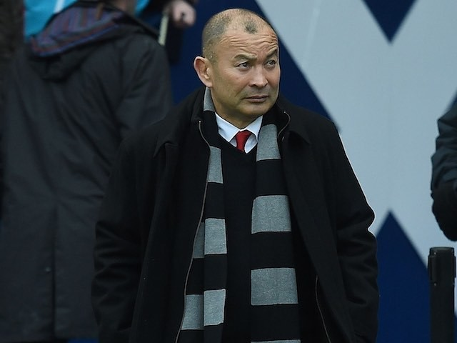 Eddie Jones watches on during the Six Nations game between Scotland and England on February 6, 2016