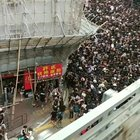 Driving by thousands of protesters on the streets of Hong Kong today (estimated 2M total)
