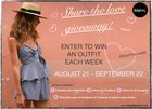 Win an outfit each week in our share the love giveaway{ww} ends 9/22