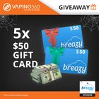 5 x $50 Breazy.com Gift Cards Giveaway (11/01/2018) {US}