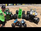 Best of Toy Monster Truck Play II with Grave Digger, Max-D, Son-uva Digg...