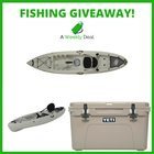 Ultimate Fishing Gear Giveaway. Win a Fishing Kayak & Yeti Cooler. The approximate retail value of all prizes is $1000. (12/31/17) {US}