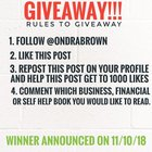 Doing a giveaway for a business,financial or self help book on my instagram.