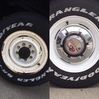 A before & after was requested of my truck wheels.