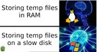 Perhaps this is why Linux is faster