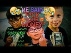 Giving kids fake money 😂