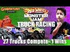HOT WHEELS MONSTER TRUCK RACING! GioVentures presents 27 Trucks, only 1 WINS