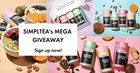 12 free months of Simpltea for 3 winners. Another 4 winners will get $35 each for products (04/02/2019) {??}