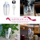 Win a mini USB humidifier on Instagram