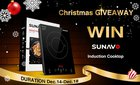 SUNAVO 1800W Induction Cooktop Giveaway (12/19/2019) {US}