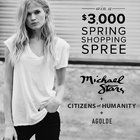 Win a $3000 Michael Stars Shopping Spree! 2/28/16
