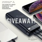 ALPHATANK 30,000mah portable powerbank $900 Value! 3 WINNERS! (7/4/2019) {WW}