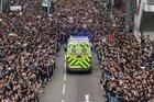 Hong Kong Protestors Giving Way To Ambulance like Crossing The Red Sea