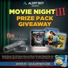 "AlertBot Movie Night 3 Giveaway - fire TV Stick + ""Planet of the Apes"" Trilogy, ""Wonder Woman,"" ""LEGO Batman"" Movies! {US} (12/10/2017)"