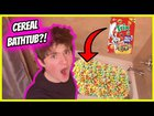 I filled my bathtub with cereal (PRANK!)