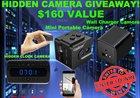 Enter to Win the Ultimate 3 HIDDEN SPY CAMERAS Bundle ($160 Value) {US} Ends (06/27/17)