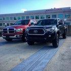 Me and my buddies trucks at work