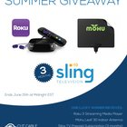 Enter to Win Sling TV + Roku 3 + Mohu Antenna - The Ultimate Cord Cutter Summer Giveaway