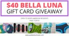 $40 Bella Luna Gift Card ENDS IN 2 HOURS!! {US} (07/29/2017)
