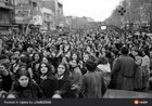 Picture of protests again the forced use of the hijab during the Iranian revolution 1979