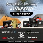 $2400 Winter Survival Giveaway Package including survival food buckets, armor, and so very much more! (01/31/2018) {US}