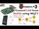 IOT#19 Control LED from Mobile using Pub-Sub architecture RPi3: Broker, NodeMCU: Client (MQTT) | Tutorial | Source code | Video | APDaga | DumpBox