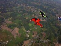 May 2011: Flying over Belgium.