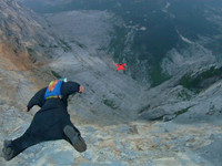 Base Jumping POV with the Drift HD170 Stealth
