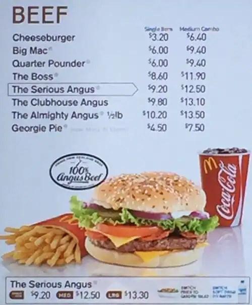 McDonalds Menu Menu For McDonalds Glenfield Auckland