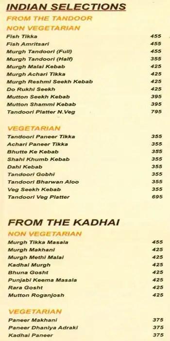Asia Kitchen Menu Vasant Vihar New Delhi